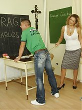 Big breated teacher loves her students hard cock