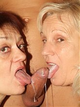 Paula and Remy are horny older ladies taking turns in sucking and fucking on webcam