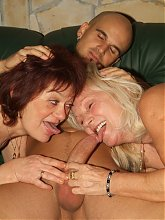 Paula and Remy are sex starved older women getting their fix during a live cam session